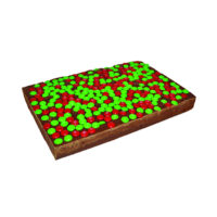 Chocolate Fudge with Red & Green M&Ms